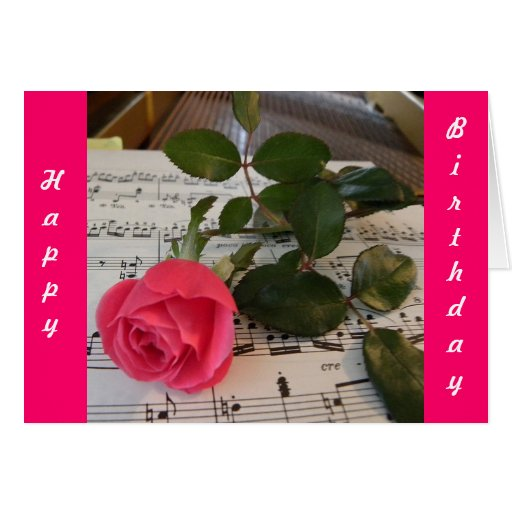 Rose Sheet Music Card