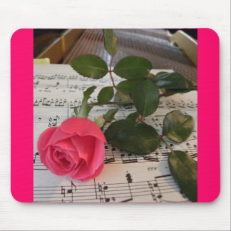 Rose Sheet Music Mouse Pads