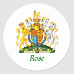 Rose Shield of Great Britain Classic Round Sticker