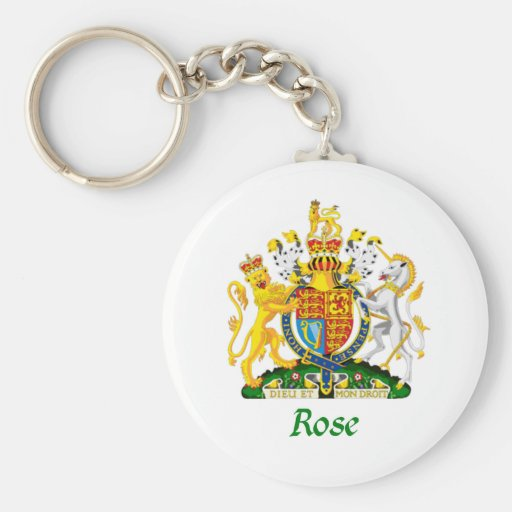 Rose Shield of Great Britain Key Chains