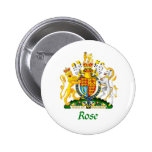 Rose Shield of Great Britain Pinback Button