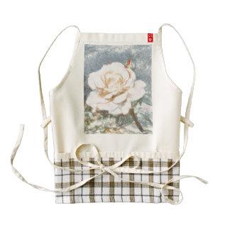 Rose sketch zazzle HEART apron