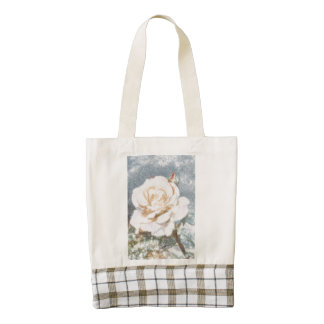 Rose sketch zazzle HEART tote bag