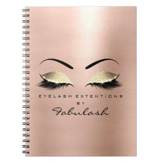 Rose Skin Gold Glitter Eyes Makeup Beauty Luxury Notebook