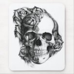 Rose Skull Mouse Pads