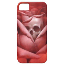 rose skull on iphone case