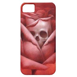 rose skull on iphone case