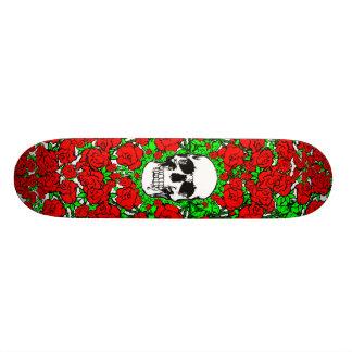 Rose Skull Skateboard