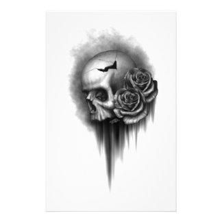 Rose skull stationery