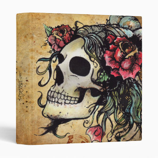 Rose Skull Watercolor Tattoo Binder by Agorables