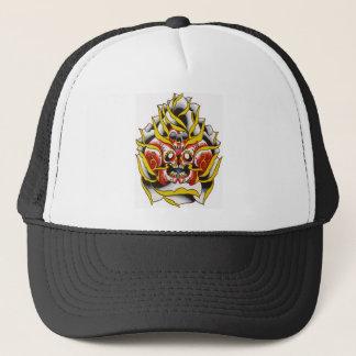 rose skulls trucker hat