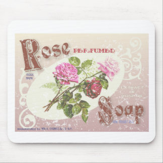 Rose Soap- distressed Mouse Pad