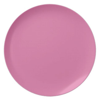 Rose Solid Color Dinner Plate
