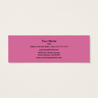 Rose Solid Color Mini Business Card