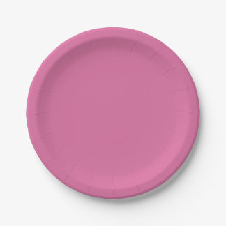 Rose Solid Color Paper Plate