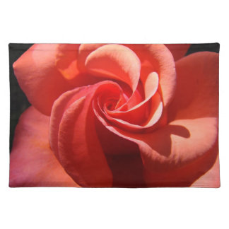 Rose Spiral Flower Placemats Orange Roses gifts