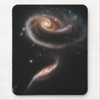 Rose Spiral Galaxies Mouse Pads
