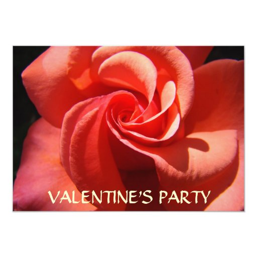 ROSE SPIRAL INVITATION CARDS Valentine's Parties