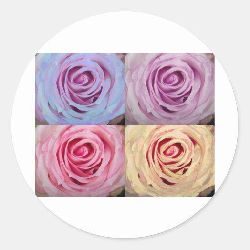 rose_spiral_mix_colors.jpg pegatina redonda