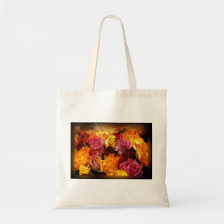 Rose Splatter Tote Bag