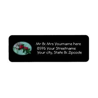 Rose Spray Address Label-customize Label