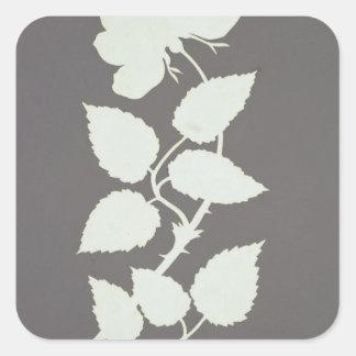 Rose Square Sticker
