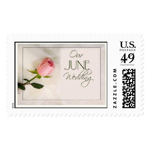 Rose Stamp for a June Wedding Postage