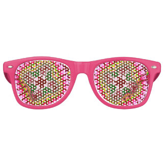 Rose Strawberry Flower Party Sunglasses