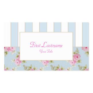 Rose & Stripe Business Card_Blue (Top10) Business Card