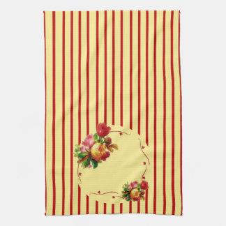Rose Stripe Kitchen Towel