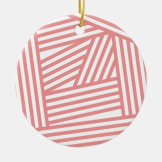 Rose Stripes Christmas Tree Ornaments