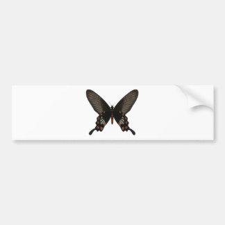 Rose Swallow Tail Butterfly Car Bumper Sticker