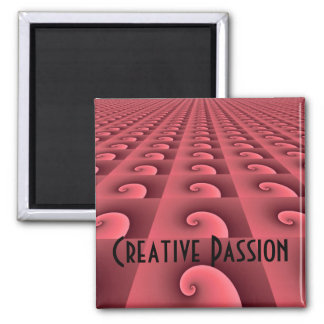 Rose Swirl Design - Creative Passion Magnet