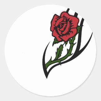 Rose tattoo classic round sticker