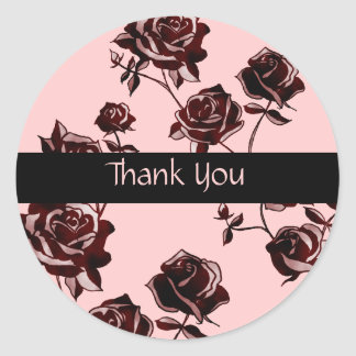 Rose Tattoo Classic Round Sticker