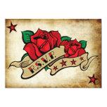 Rose Tattoo Custom RSVP Templates. 5x7 Paper Invitation Card