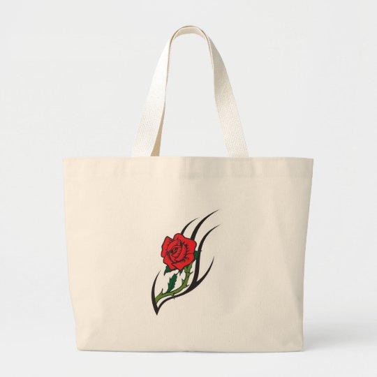 Rose Tattoo Design Large Tote Bag