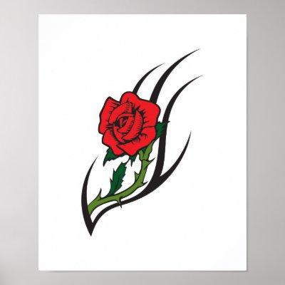 Rose pattern tattoo designs