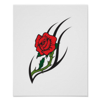Rose Tattoo Design Posters