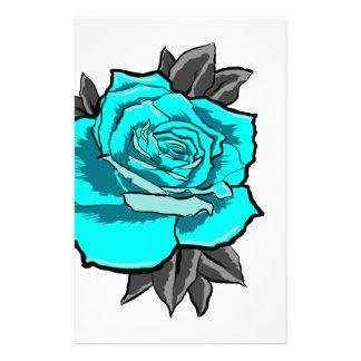 rose tattoo flash stationery