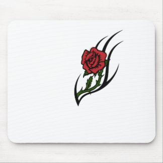 Rose tattoo mouse pad
