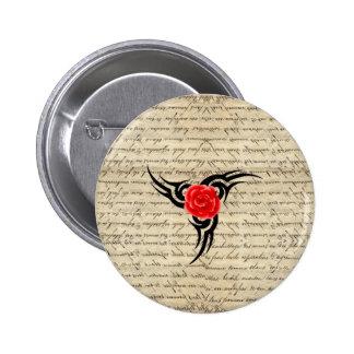 Rose Tattoo Pinback Button