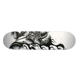 Rose-tattoo Skateboard Deck