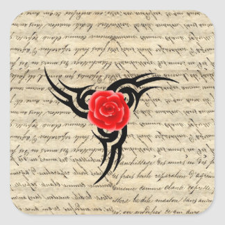 Rose Tattoo Square Sticker