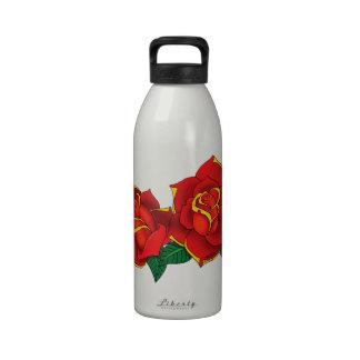 Rose Tattoos Reusable Water Bottle