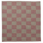 Rose & Taupe Linen Checkered Napkin