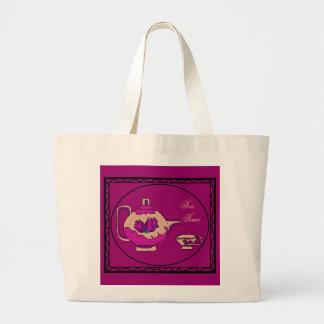Rose Teapot Large Tote Bag