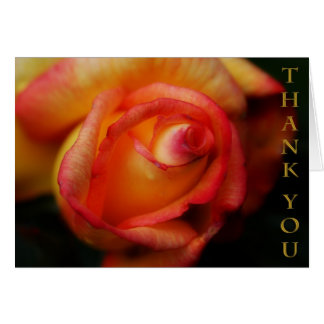 Rose Thank You Note Card