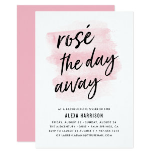 ros the day away bachelorette weekend invitation