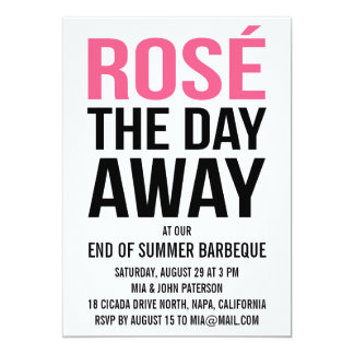 Rose the Day Away Summer Party Card